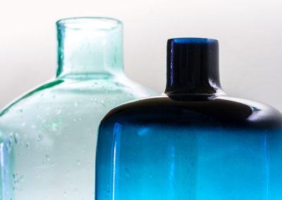 Glasflaschen blau