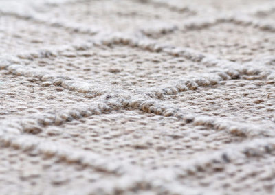 Teppich Wolle Raute