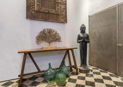 Patio mit Buddha