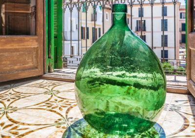 Glasflasche groß